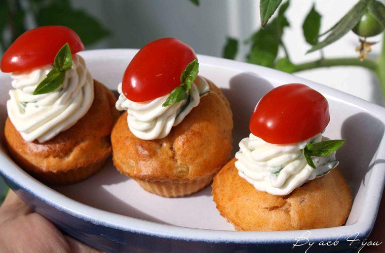 Cupcake fraîcheur au thon et à la tomate