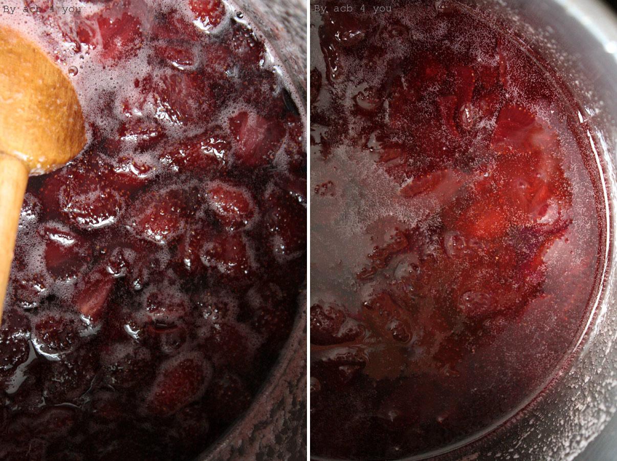 Confiture de fraises à 3 temps