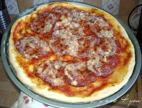 pizza à la coppa et au parmesan