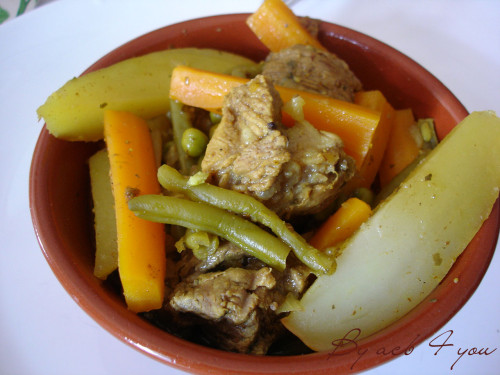 Tajine de mouton aux légumes