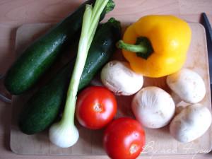 wok de légumes, crevettes et chorizo 2