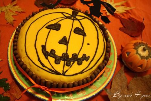 gâteau citrouille aux 2 chocolats