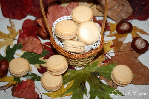 macarons à la crème de marron 1
