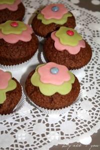 muffin fleur au chocolat 2