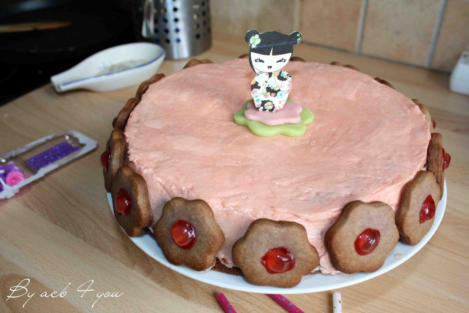 Girly cake au sirop de fraises