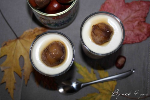 panna cotta à la crème de marrons 1