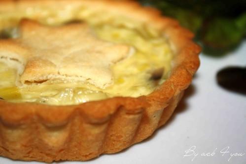 tartelette au parmesan et fondue de poireaux 2