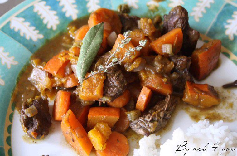 Bœuf aux carottes et potimarron