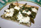 Pizza verde au chèvre (haricot vert et courgette)