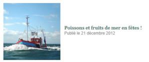 Poissons et fruits de mer en fêtes