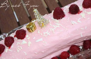 bûche rose au chocolat blanc copie