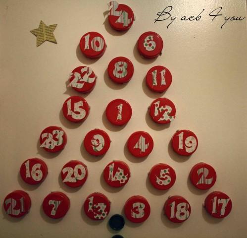 calendrier Avent bouchon 2012