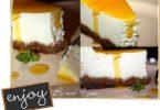 Cheesecake au spéculoos et coulis fruit de la passion