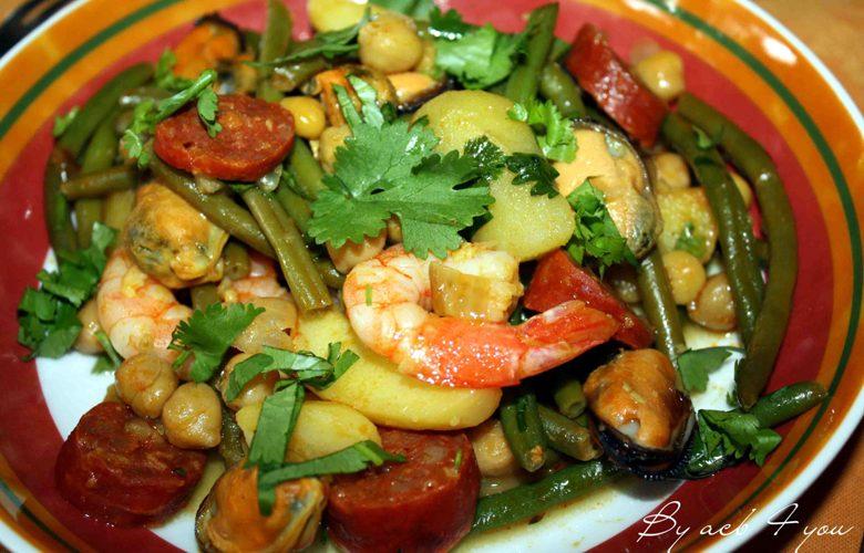 Poélée de pommes de terre aux moules et chorizo