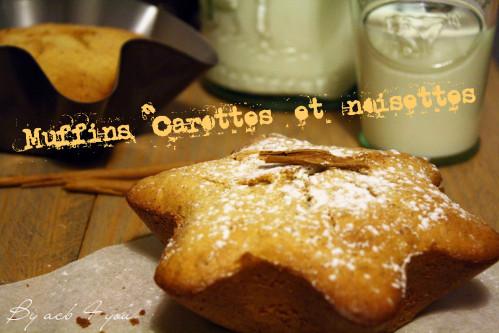 Muffins carottes et noisettes