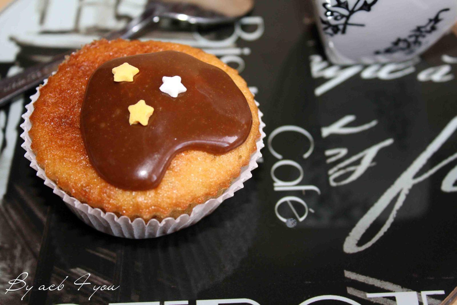 Cupcake à la banane et au carambar