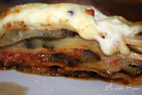 lasagne aubergine mozza
