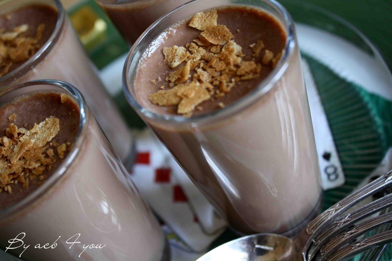 Panna cotta au chocolat au lait