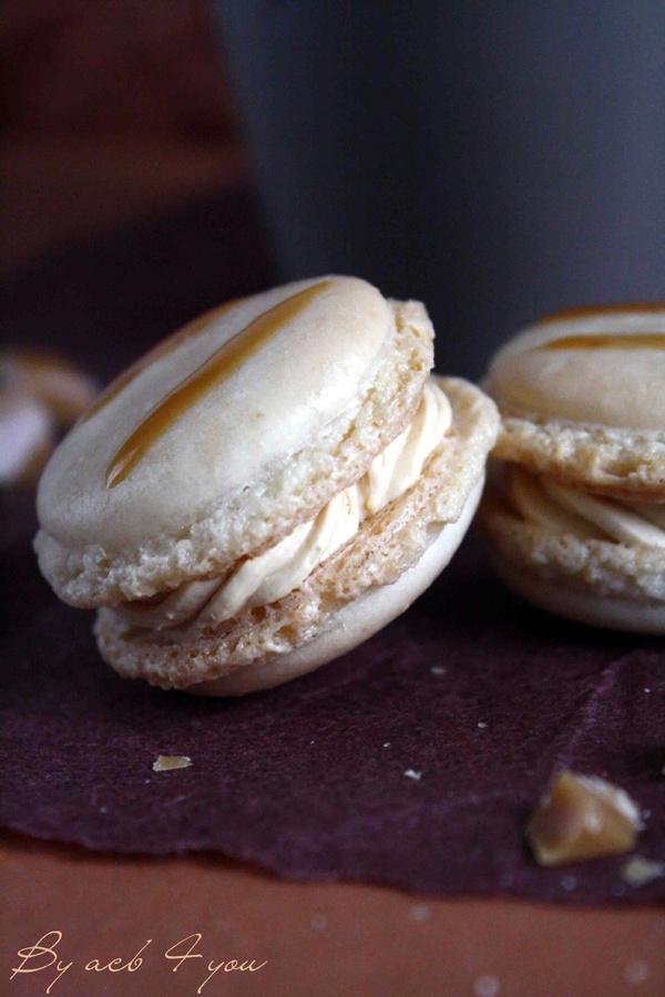 Macarons au caramel à la fleur de sel