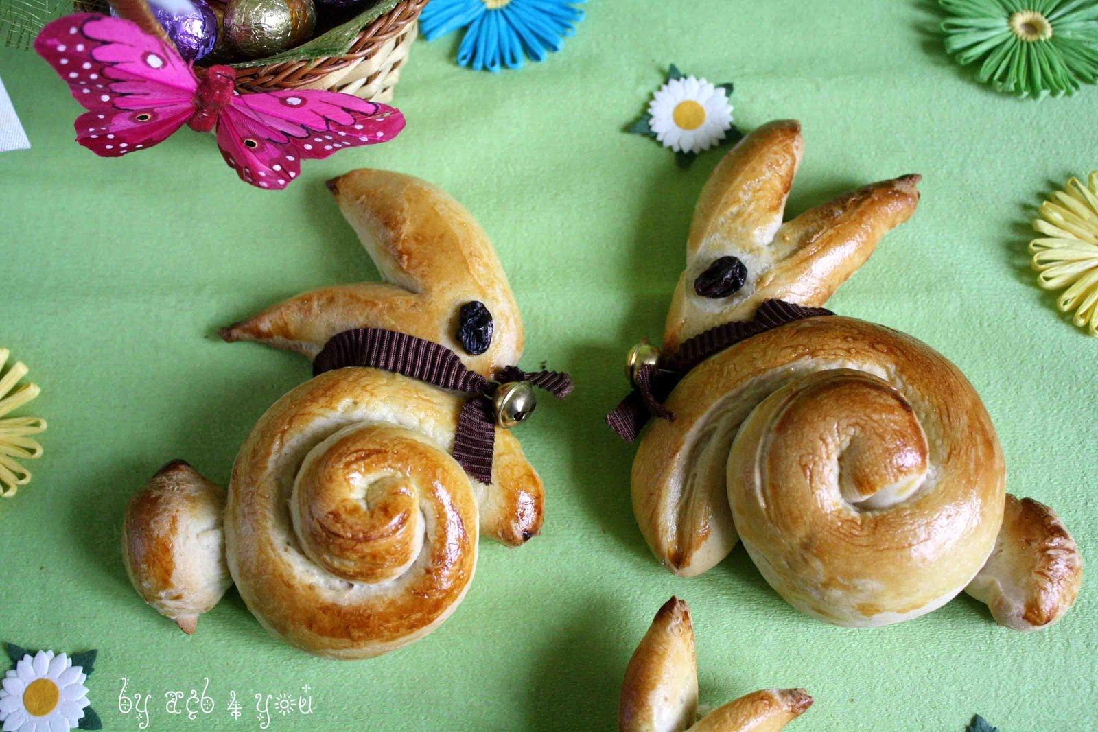 Lapin brioché pour Pâques