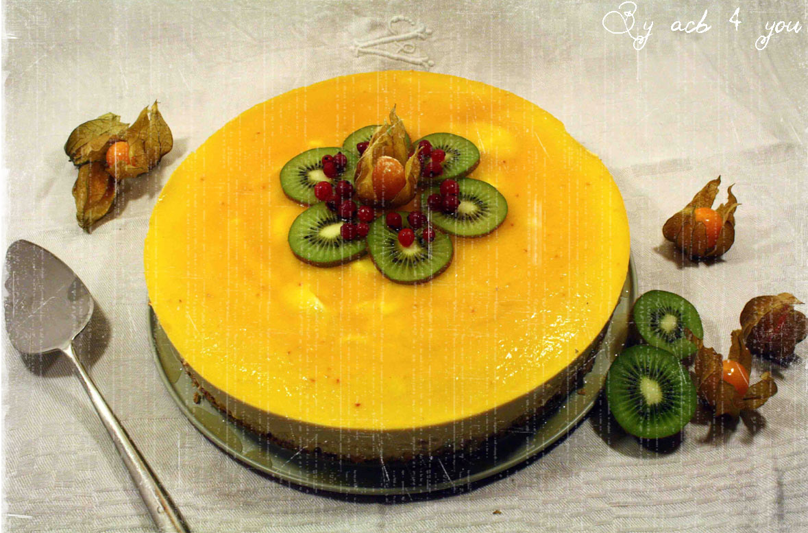 Le tropical : dacquoise coco, mousse à la mangue, nappage fruit de la passion