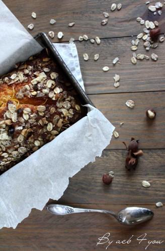 cake moelleux aux abricots et croustillant d'avoine et nois