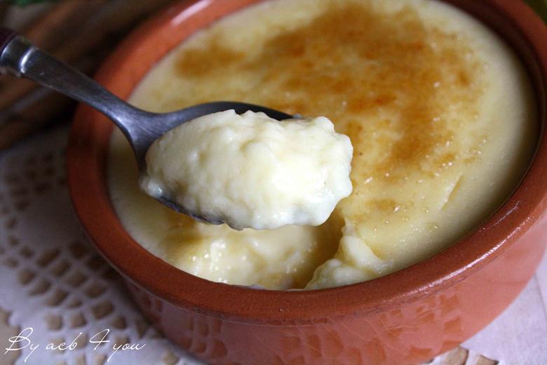 Crème catalane à la cuillère