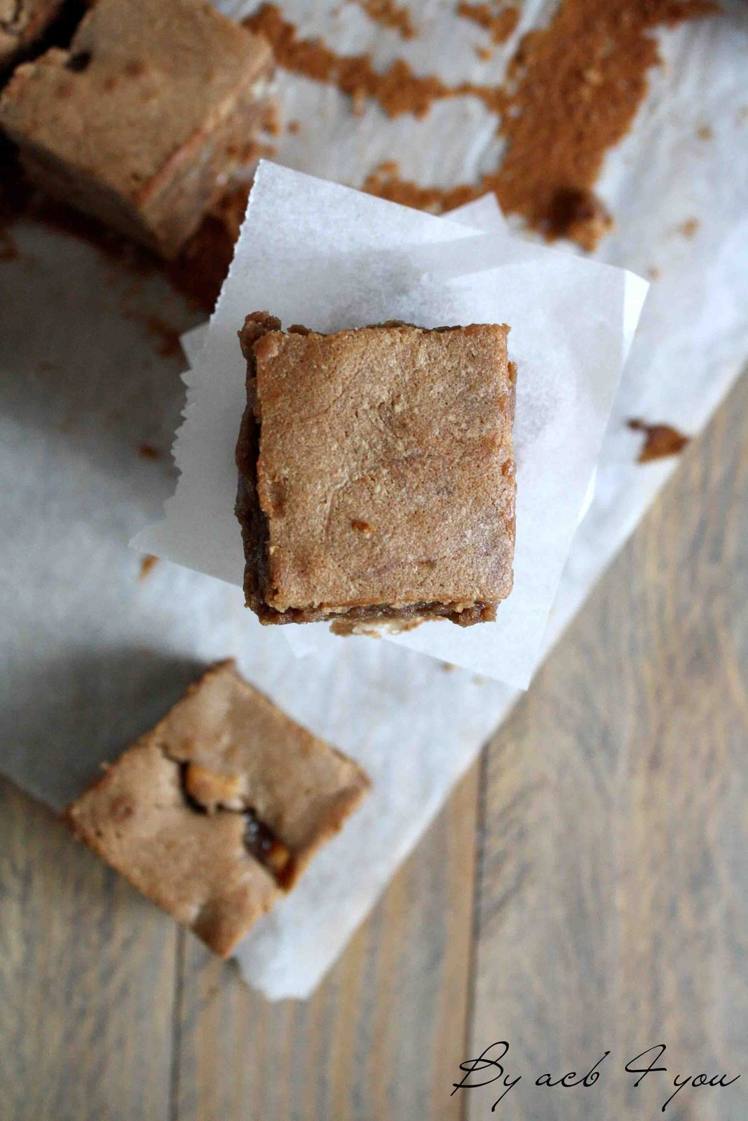 Fondant au chocolat caramel, noix de macadamia