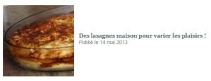 des lasagnes maison pour varier les plaisirs