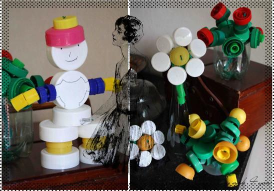 Recyclage artistique : Des fleurs pour la fête des mères