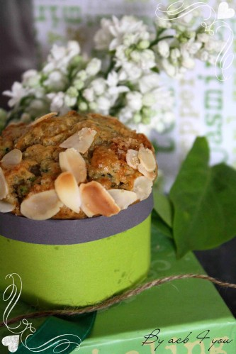 Muffin vegan courgette amande