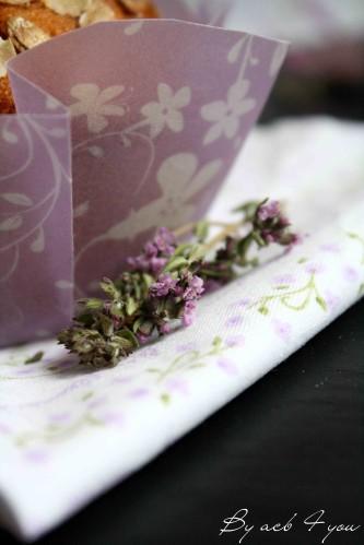muffin miel fleur de thym d