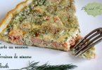 Tarte au saumon, aneth et graines de sésame