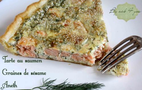 tarte au saumon, aneth, sésame 1