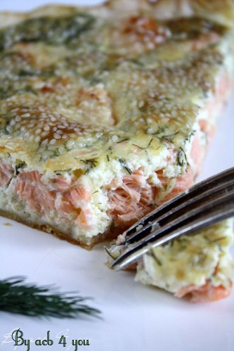 tarte au saumon, aneth, sésame 3