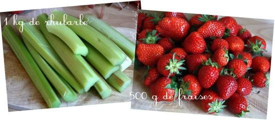 gelée de rhubarbe aux fraises b