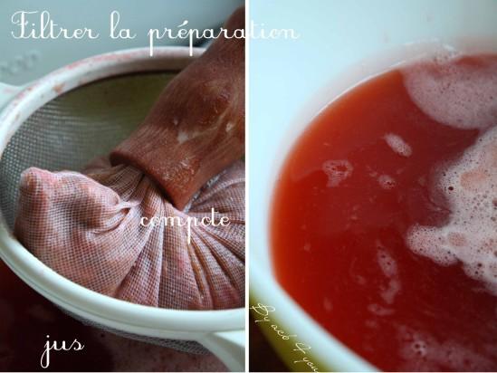 gelée de rhubarbe aux fraises d