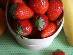 Salade de fraises au thym citron