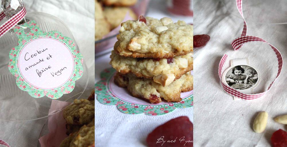 Cookies vegan goût BN à la fraise