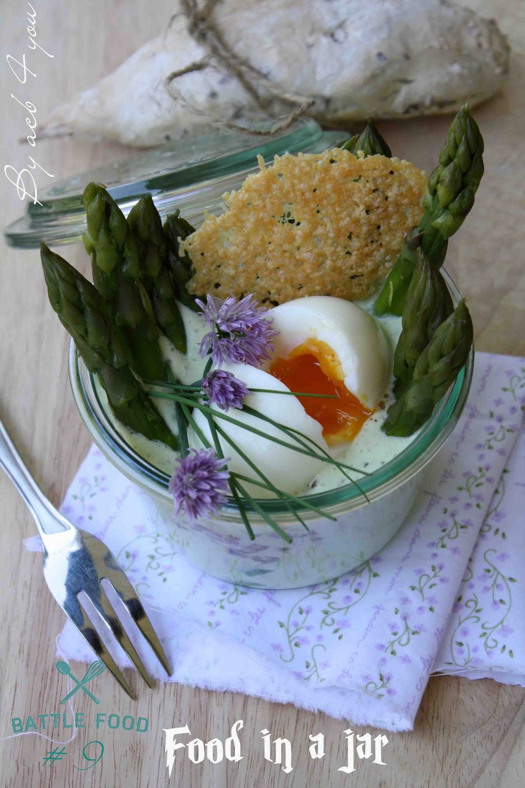 Nid d'asperges en bocal {battle food #9}