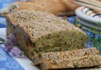 Terrine de pois chiches aux haricots verts, fines herbes et sésame
