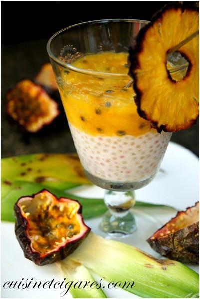Verrine Fruits Exotiques sur Tapioca Coco Solo 1