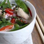 curry de poulet aux lentilles et légumes