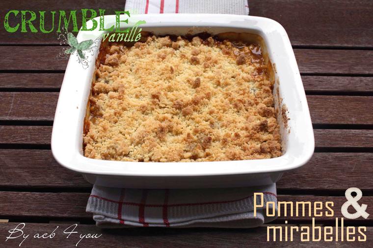 Crumble vanillé pommes et mirabelles
