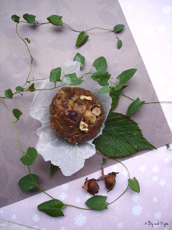 Muffins des sous bois aux pleurotes et noisettes