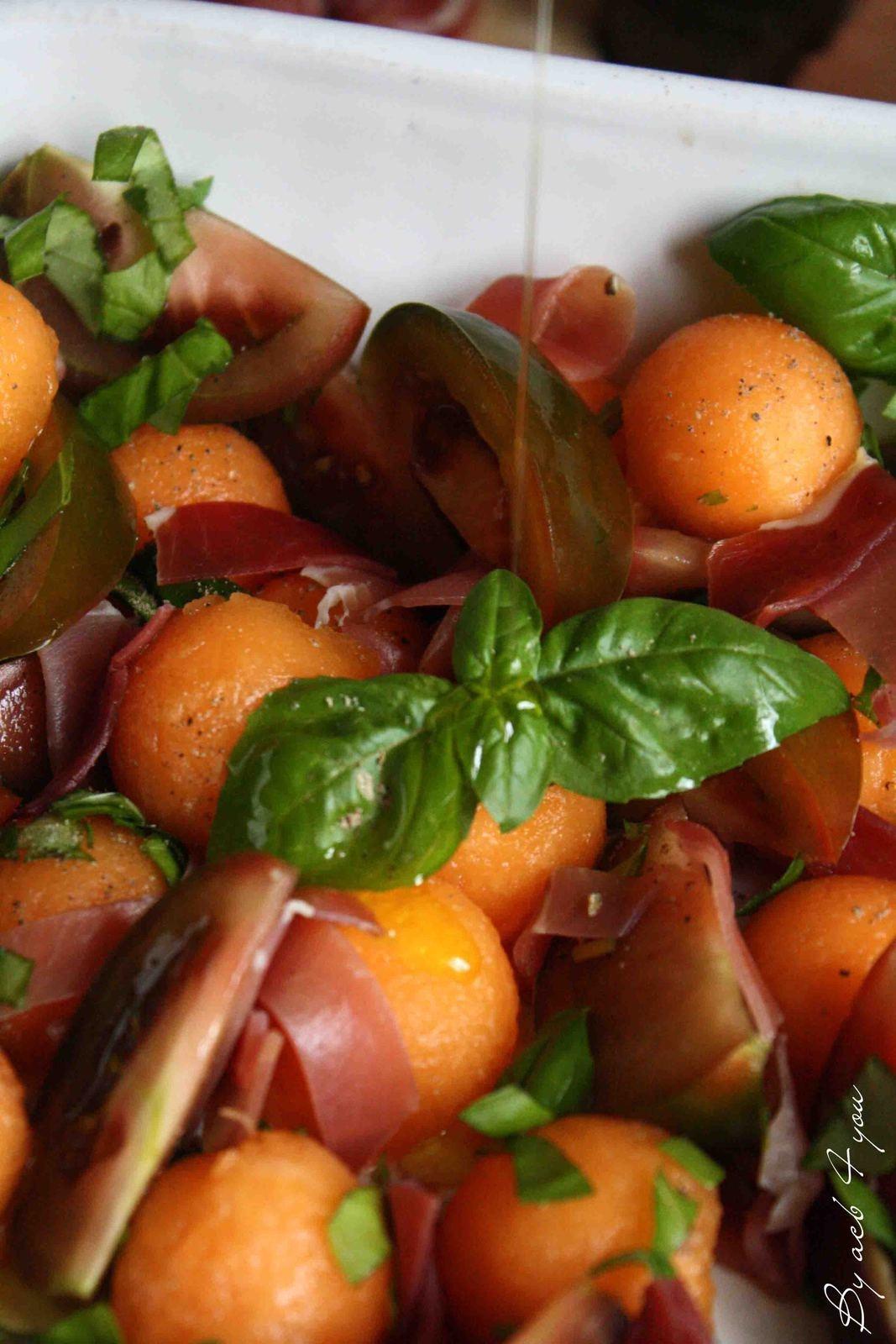 Salade de melon au poivre des mondes