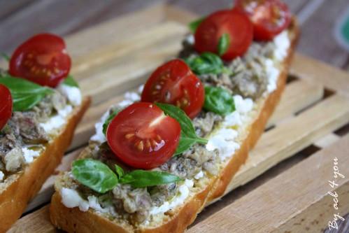 tartine chèvre sardine a