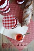 gelée de rhubarbe aux fraises a