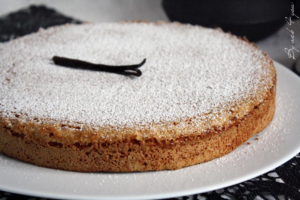 Gâteau à la vanille de Madagascar, comme un nuage