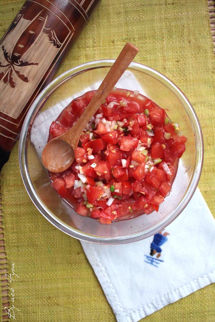 Rougail tomates d'inspiration malgache